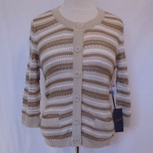 Dex Lacy Button Front Cardigan NWT- Size Small